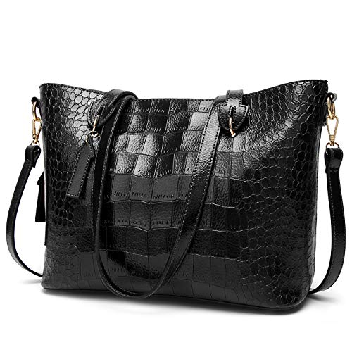 Tote Crocodile Handbag Pattern (ALARION Women Top Handle Satchel Handbags Shoulder Bag Messenger Tote Bag Purse)