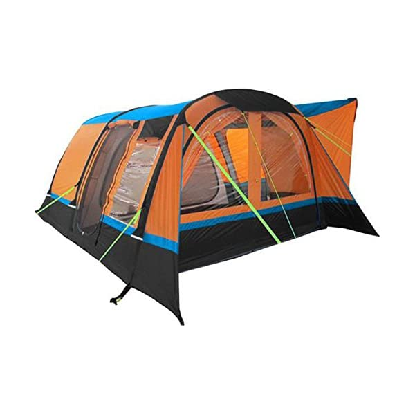 OLPRO Outdoor Leisure Products Cocoon Breeze 4.55m x 3.5m 5 Berth Inflatable Drive Away Campervan Awning Orange & Black