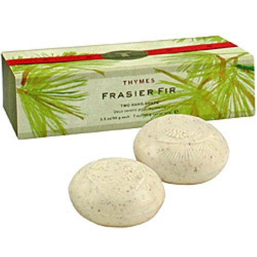 Thymes Two Bar Soap Set, Frasier Fir, 3.5-Ounce Bars - Frasier Fir Hand Lotion
