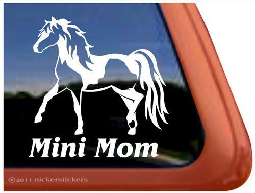 Mini Mom Miniature Horse Pinto Vinyl Window Decal