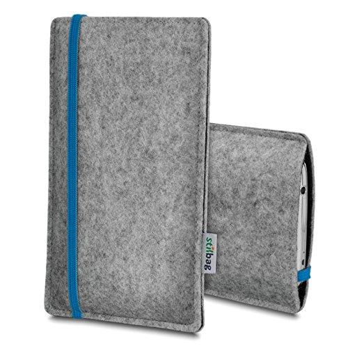 Stilbag Etui Feutre 'LEON' pour Apple iPhone 3Gs - Couleur: bleu-gris
