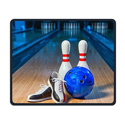 Bowling Shoes Gaming Mouse Pad Comfortable Stitched Edges Non-Slip Rubber Base Mousepad For Laptop,Computer & PC 11.81×9.84×0.12 Inches