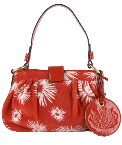 Juicy Couture Beatrice Velour Shoulder Bag (Red Poinsettia)