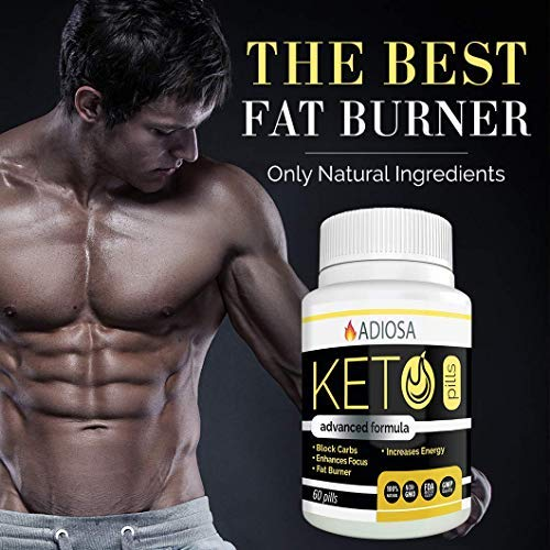 Adiosa Keto Carb Blocker Weight Loss Pills - Supplements to Burn Fat Fast - 60 Pills - Premium Keto Supplement - Keto Appetite Suppressant for Women & Men - Keto Meal Replacement by Adiosa (Image #2)