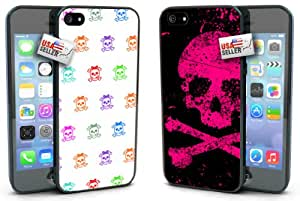 Skull Patter Pink Crossbones COMBO TWO PACK for iPhone 5 or 5s