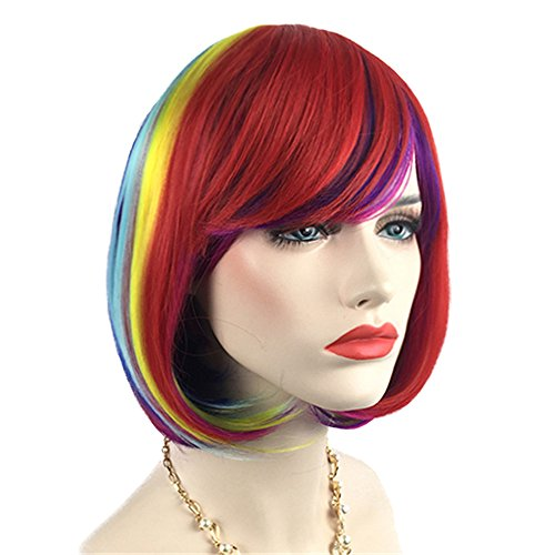 Mildiso Colorful Bob Wigs for Women Short Straight
