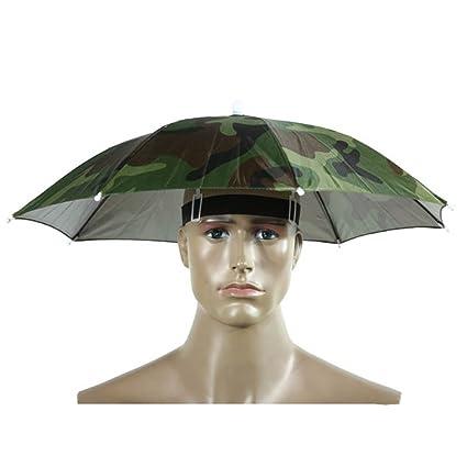 westeng 1pieza Golf Pesca Camping Headwear Cap sol lluvia paraguas sombrero 55 cm de diámetro