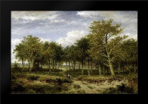 (Wooded Landscape Near Surrey Framed Art Print by Leader, Benjamin Williams)