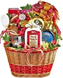 This large assortment of gourmet gifts features in a very charming, oversized, woven basket, which would make a wonderful showpiece or could be used as a functional basket in any home. It arrives filled with Blackberry Patch Buttermilk Pancak...