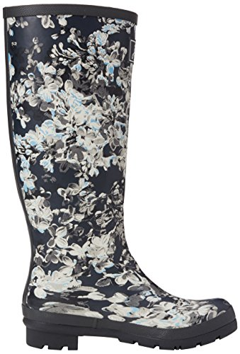 Joules Frauen Welly Print Regen Boot Graue Cara Floral