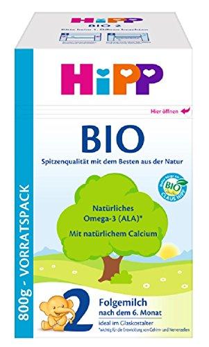 Hipp Orgánica 2 leche de continuación - a partir de 6 meses, 4 unidades (