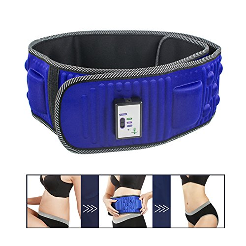 Slimming Belt by Lolicute, Electric Weight Lose Magnet Belt Vibration Massage Burning Fat Lose Weight Shake Belt Waist Trainer Waist Trimmer (Slimming Massage Belt)