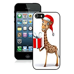 Individualization Iphone 5S Protective Cover Case Christmas Giraffe iPhone 5 5S TPU Case 1 Black