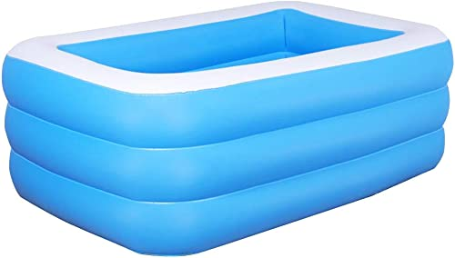 Inflatable Swimming Pool Family Kids Adults Summer Water Party Kiddie Pool for Garden, Backyard, Outdoor 269 171 61cm