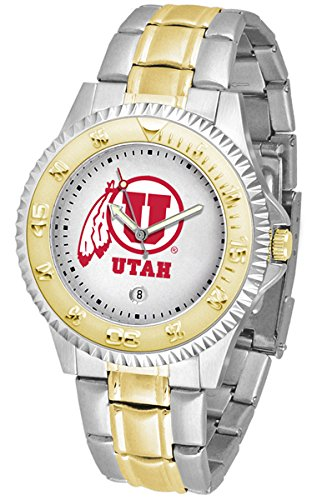 Utah Utes Competitor Steel Watch (Utah Utes Competitor Two-Tone Men's Watch)