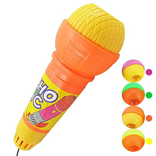 Wotryit Echo Microphone Mic Voice Changer Toy Gift Birthday Present Kids Party Song,Musical Singing Toy Gifts for Kids Baby Dancing and Learning Music]()
