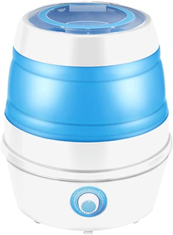 Mini Lavadora Lavadora portátil Limpieza Mini lavadora, lavadora plegable para lavar ropa de bebé, dormitorio de apartamento, viajes, regalo para amigos o familia azul y rosa Lavadoras Portátiles