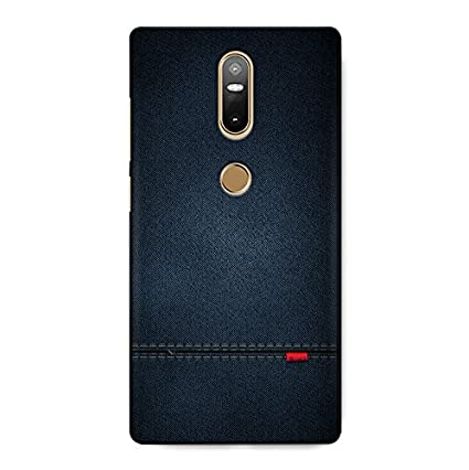premium selection c4f2e a52d4 CrazyInk 3D Back Cover for Lenovo Phab 2 Plus - Blue Leather Texture  CILP2PLUSB059
