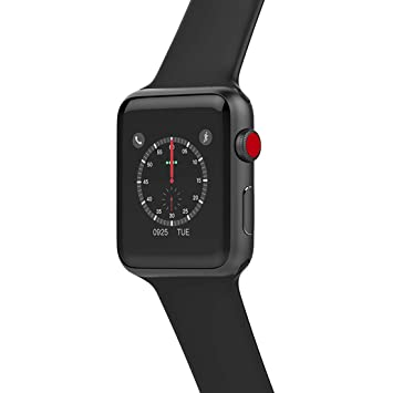 Smart watch W53 Bluetooth Series 3 Smartwatch Estuche para Apple iOS iPhone Android Phone Deporte Pulsera Fitness Reloj De Pulsera,Aluminumblack