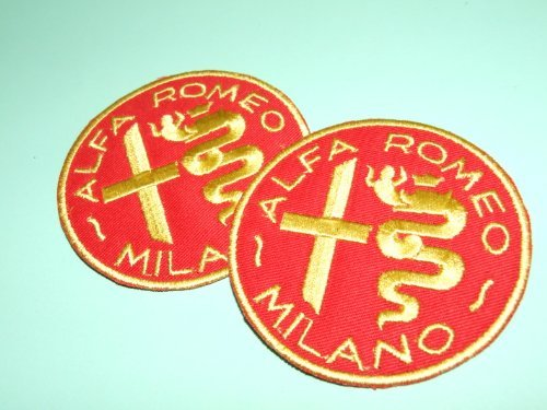 Onekool WP-4WDX-BZ8B Alfa Romeo Milano ,Car Racing Overall Cloth Patch Badge , Iron On