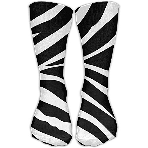 Jie Shikang Unisex Zebra Compression Socks Soccer Knee High Athletic Long Stockings Fit For Boys And Girls ()