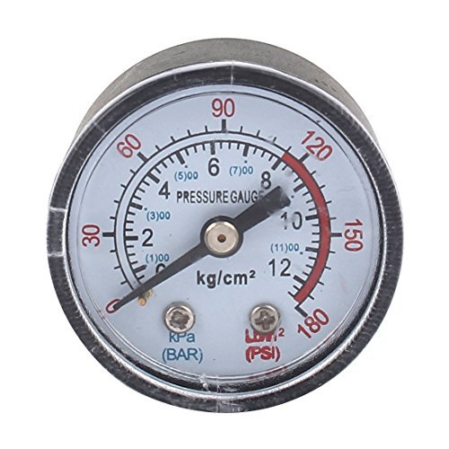 Compresor de aire eDealMax 1 / 8BSP rosca Macho 0-12 Bar 0-180PSI Indicador de presión: Amazon.com: Industrial & Scientific