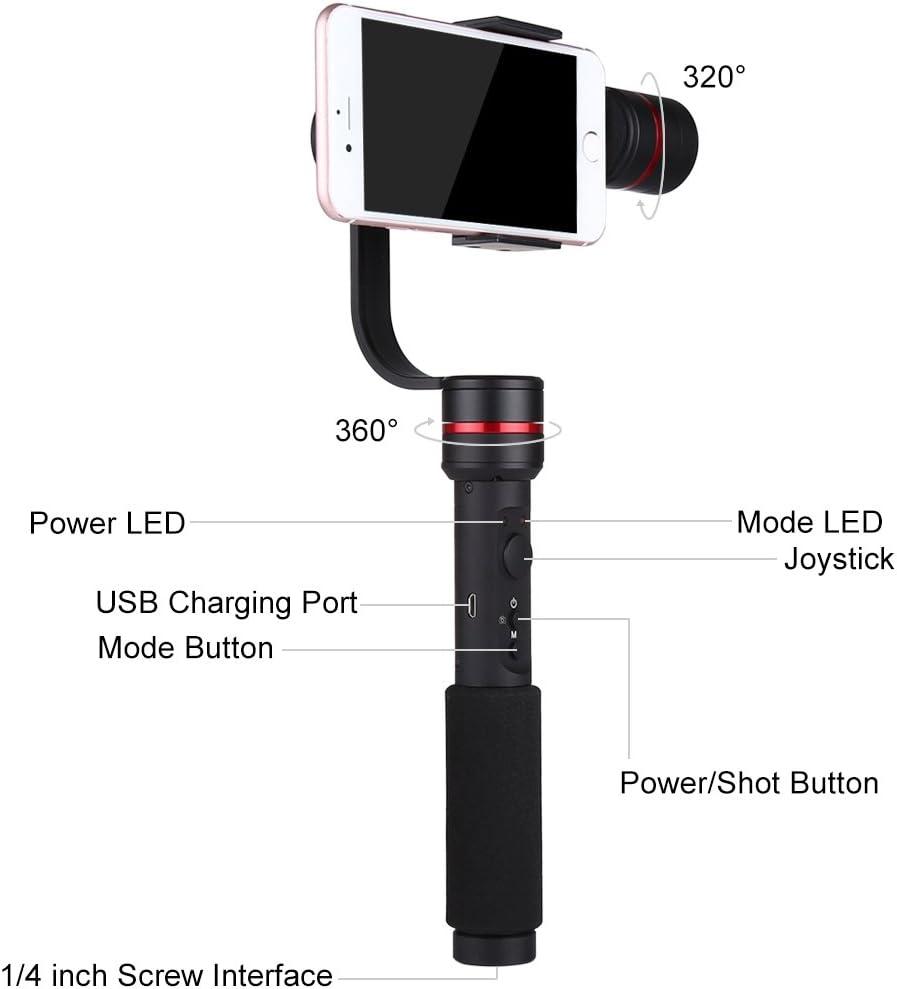 PULUZ G1 3 ejes Handheld Gimbal Estabilizador para Smartphone 3,5 ...
