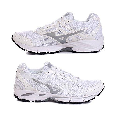 Mizuno Zapato de Running Para Mujer Sport 2014 Resolute Wave 2, Color Blanco y Plateado Bianco Argento