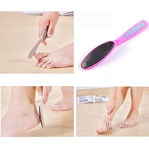 Kanzd Anti Bacterial Metal Foot File Rasp Sanitizable Pedicure Callus Remover Chic (Sanitizable Foot File)