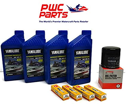 YAMAHA 1 8L HO SHO Oil Change Kit w/Filter FX-HO VXR VXS FZ-SHO FZR FZS  69J-13440-03-00 NGK Spark Plugs Maintenance Kit