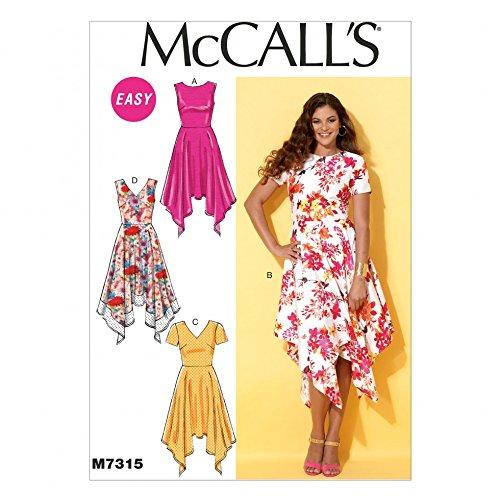 Handkerchief Dress Pattern - McCalls Ladies Easy Sewing Pattern 7315 Handkerchief Hem Dresses