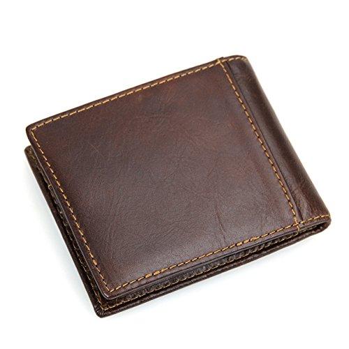Window RFID Artmi Wallet Chocolate ID Holder Mens with Card Wallets Bifold Blocking Chocolate xZA1waq