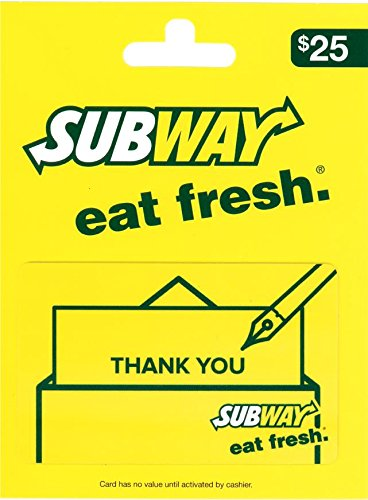 SUBWAY Thank You Gift Card $25