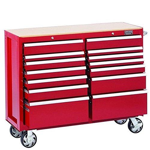 Craftsman Cart - Craftsman Industrial 5000 Series 14 Drawer Rolling Cart, 52