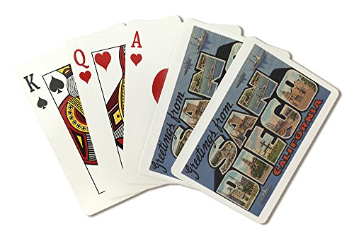 Greetings from San Diego, California (Playing Card Deck - 52 Card Poker Size with Jokers)