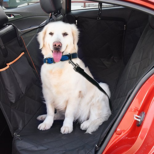 Mpow Dog Car Seat Cover, Pet Seat Cover with Mesh Viewing Window and Storage Pocket, Dog Hammock Waterproof Non-Scratch Large Backseat Cover, Nonslip Backing and Seat Anchors for Cars, Trucks by Mpow (Image #6)