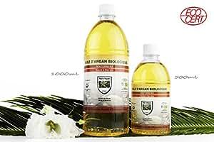 Aceite de Argan 1 litro puro 100% NATURAL BIO Certificado