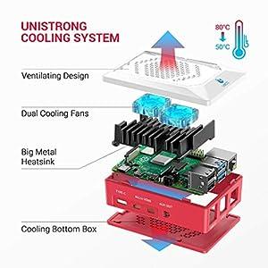 LABISTS Raspberry Pi 4 8GB RAM Starter Kit with 32GB Micro SD Card (8GB RAM)