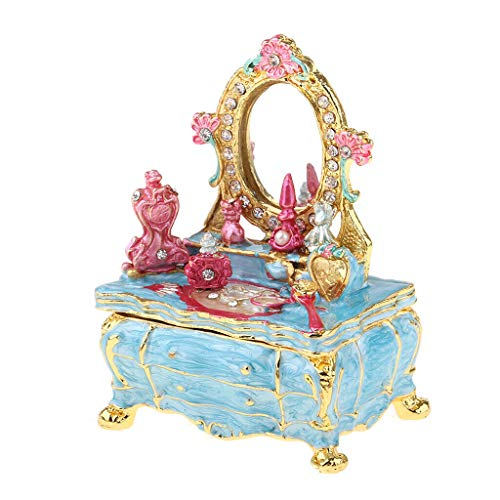 (NATFUR Delicate1/12 Dollhouse Furniture Makeup Table Miniature Jewelry Box Ornament)