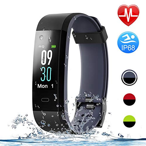 Letsfit Fitness Tracker with Heart Rate Monitor, Color Screen Smart Watch with Sleep Monitor, Step Counter, Calorie Counter, IP68 Waterproof Pedometer Watch for Kids Women Men