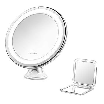 Jerrybox Kosmetikspiegel mit Beleuchtung 360° Rotation ... | {Schminkspiegel mit beleuchtung 92}