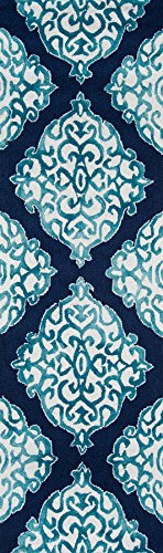 Momeni Rugs SEREESRE-2NVY2376 Serene Collection Transitional Area Rug, 2'3