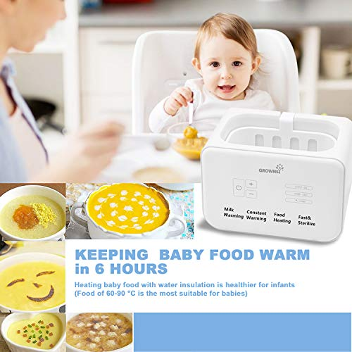 51QPu0B24eL - Baby Bottle Warmer, Bottle Sterilizer 6-in-1Fast Baby Food Heater&Defrost BPA-Free Warmer With LCD Display Accurate Temperature Control For Breastmilk Or Formula