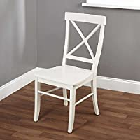 Desk Chairs / Dining Chair , Simple Living Easton Antique White Cross-back Chair 1516227 Made with Rubber Wood, Assembly Required