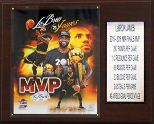 (NBA Cleveland Cavaliers LeBron James 2015-16 Finals MVP Plaque, Brown, 12 x 15