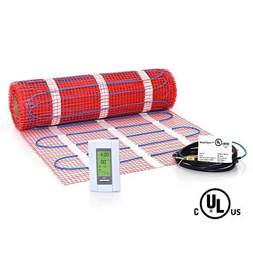 40 sqft Mat Kit, 120V Electric Radiant Floor Heat Heating System w/ Aube Programmable Floor Sensing - Tile Floor Kit