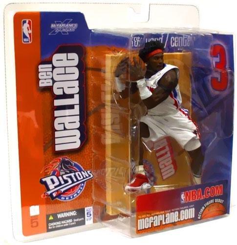 McFarlane Sportspicks: NBA Series 5 > Ben Wallace White Uniform Detroit Pistons Action Figure ()