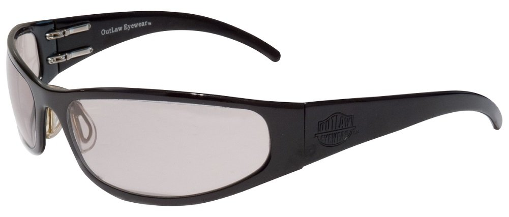 Outlaw Eyewear Cooler BLACK / DARK TRANSITION Lens Aluminum Motorcycle Sunglasses