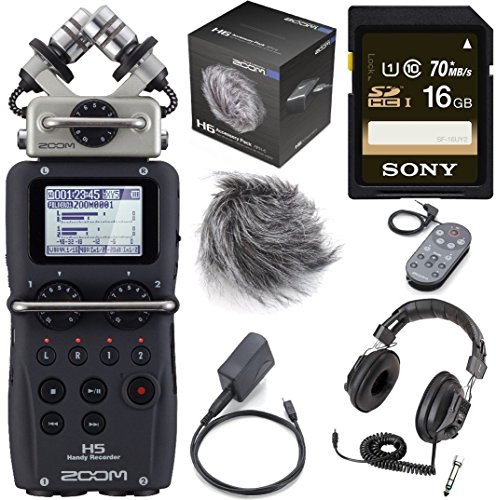 ZOOM H5 Handy Recorder plus Accessory Pack for H5,16GB SD...