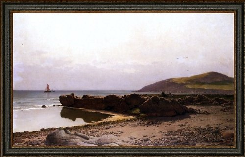 """Hans Schleich Coastal Landscape - 16"""" x 24"""" Framed Premium Canvas Print"""
